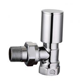 Клапан радіаторний хромований SAS 1/2″,кутовий