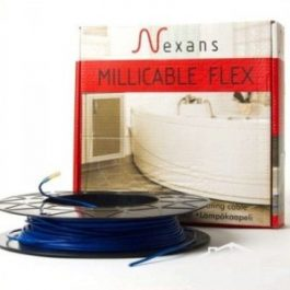 Нагрівальний тонкий двожильний кабель Nexans Millicable Flex 15  375 Вт,   2,0-2,5 м²