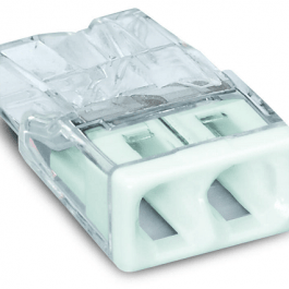 Клема WAGO Compact 2х 0,5 – 2,5 мм² Cu