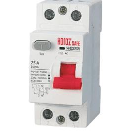 Пристрій захисного вимкнення Horoz SAFE 25A 2P AC