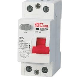Пристрій захисного вимкнення Horoz SAFE 40A 2P AC