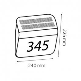 Світильник фасадний на сонячній батареї Horoz Omnia 0,1 Вт