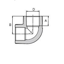 Кутник Wavin Ekoplastik  40 x 90°