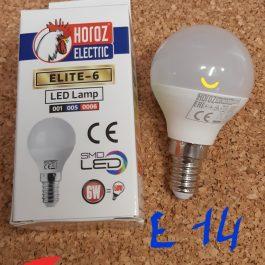 Лампа світлодіодна Horoz Elite-6  6Вт 480 Лм 4200 К  Е14