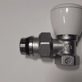 Ручний радіаторний клапан Giacomini 1/2″,кутовий