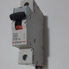 Автоматичний вимикач ZUVER DX-63 1P 10A 6kA AC