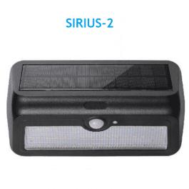 Світильник фасадний на сонячній батареї Horoz Sirius-2  2 Вт 240 Лм