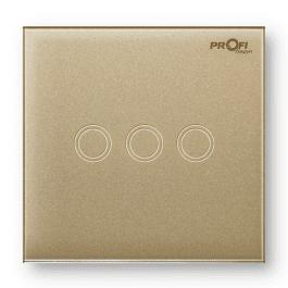 Вимикач сенсорний Profi therm 3TP, Pure Gold