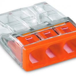 Клема WAGO Compact 3х 0,5 – 2,5 мм² Cu