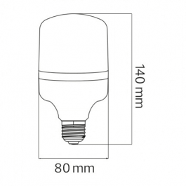 "Світлодіодна лампа Horoz ""TORCH-20"" 20 Вт Е27 6400К"