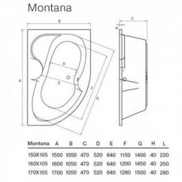 Ванна акрилова Koller Pool Montana 170×105