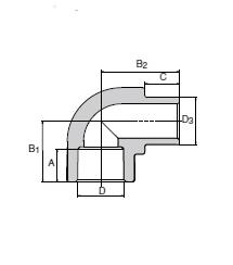 Кутник внутрішній/зовнішній Wavin Ekoplastik  25×90°