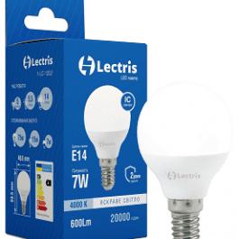Світлодіодна лампа Lectris G45 7W 4000K E14