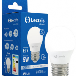 Світлодіодна лампа Lectris G45 5W 4000K E27
