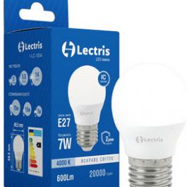 Світлодіодна лампа Lectris G45 7W 4000K E27